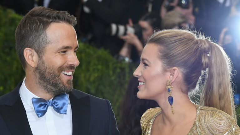"Ryan Reynolds (L) and Blake Lively attend the ""Rei Kawakubo/Comme des Garcons: Art Of The In-Between"" Costume Institute Gala at Metropolitan Museum of Art on May 1, 2017 in New York City."