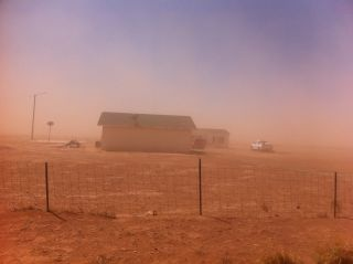 Dust storm near Winslow, Arizona.