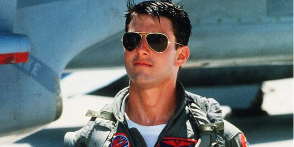 Top Gun Tom Cruise Maverick with his aviators