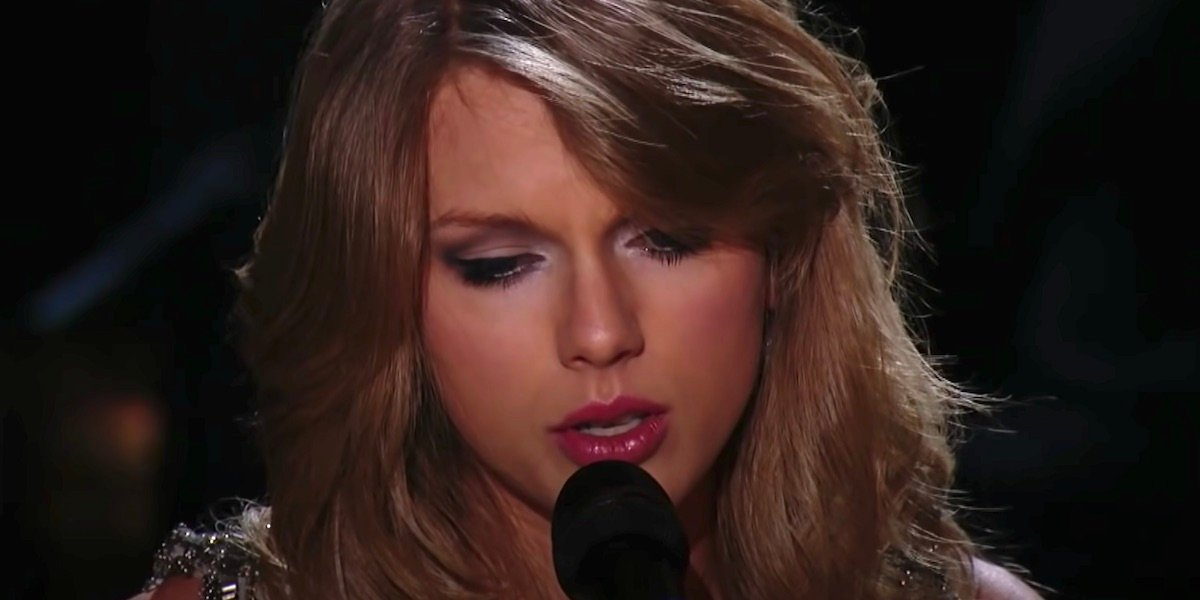 Taylor Swift singing All Too Well