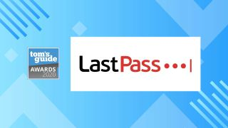 The LastPass logo accompanying a banner for the 2020 Tom's Guide awards.