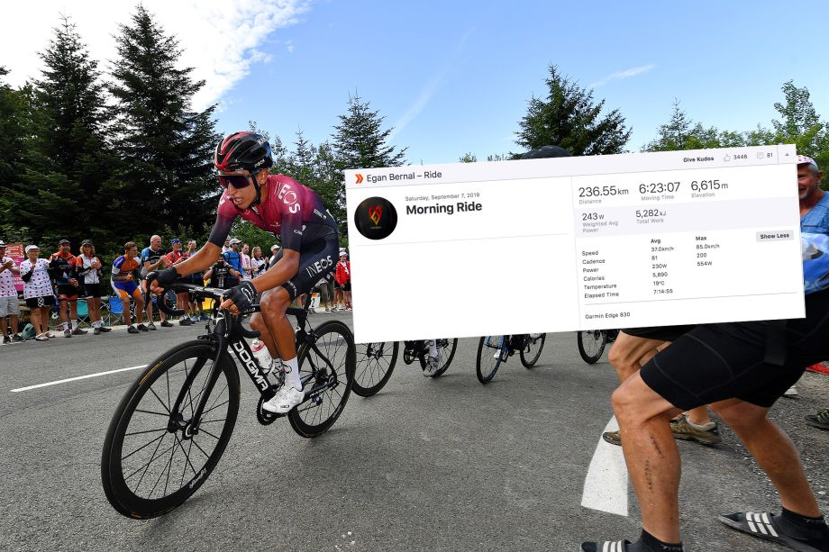Egan Bernal posts monster mountain day on Strava with over 6,600m of elevation