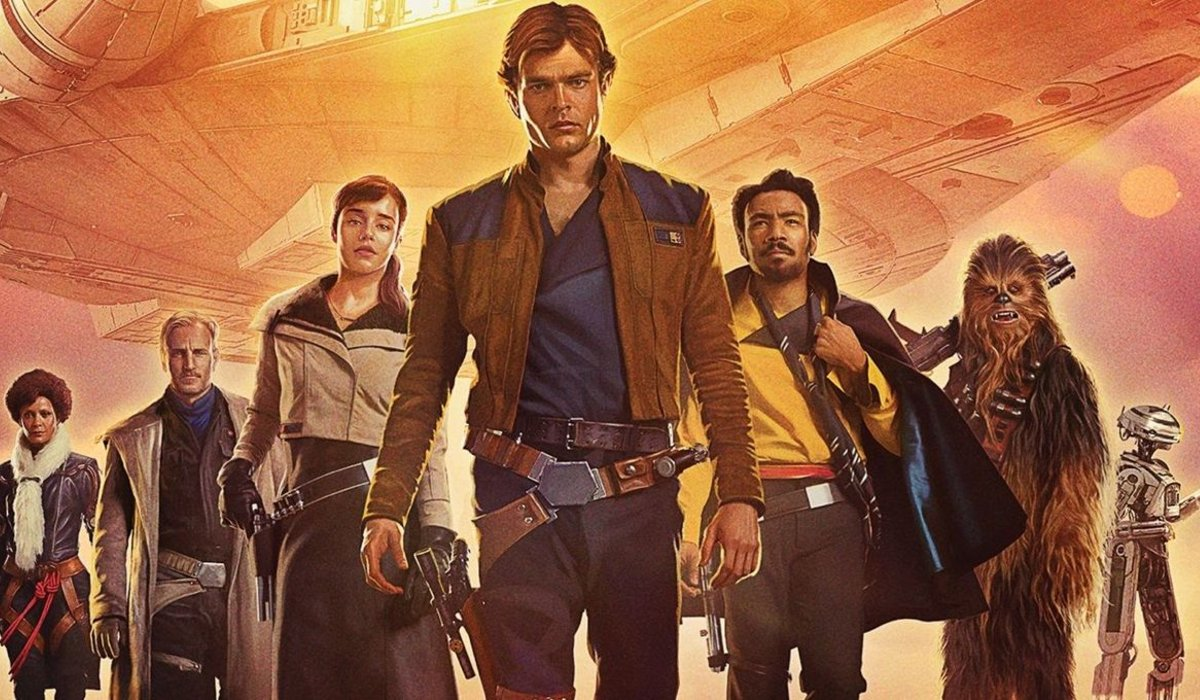 Solo: A Star Wars Story Han with his friends flanking him in the background