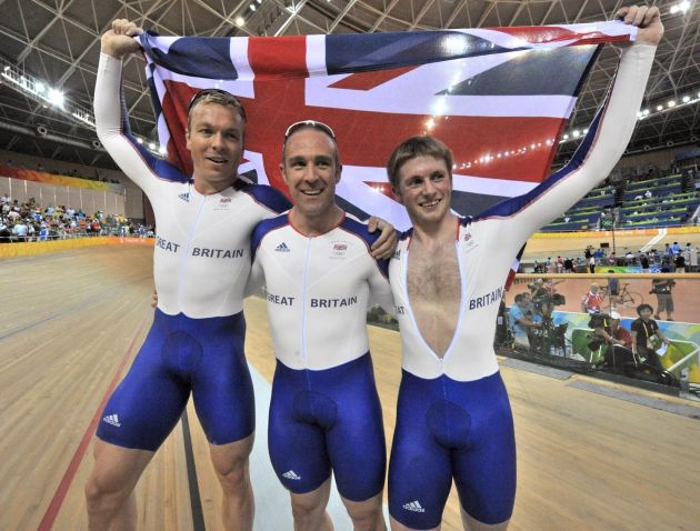 Great Britain team sprint Olympic champions 2008