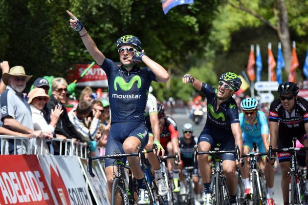 Lobato wins stage two of the 2015 Tour Down Under