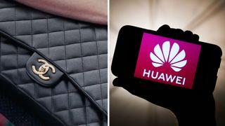 Chanel and Huawei logos