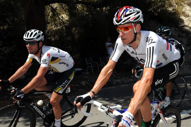 Mark Cavendish and Bradley Wiggins, Vuelta a Espana 2011, stage two