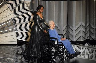 Katherine Johnson and Yvonne Cagle