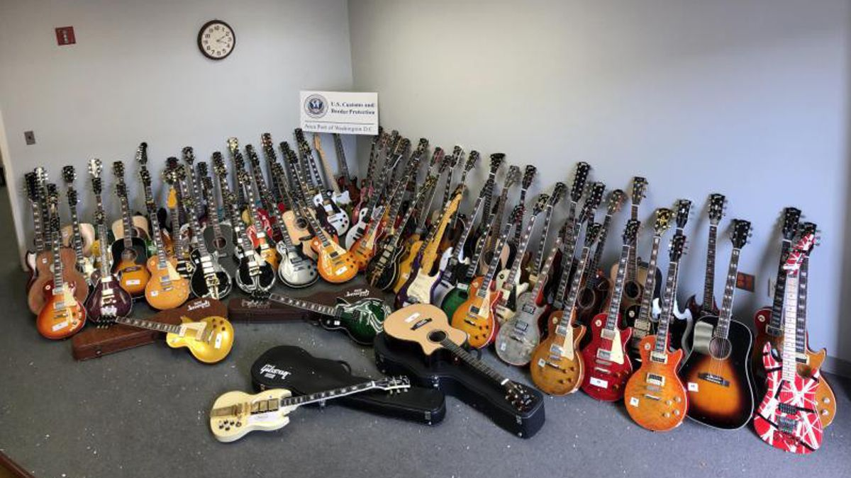 85 counterfeit guitars worth up to $260,000 seized by Washington Dulles International Airport custom agents