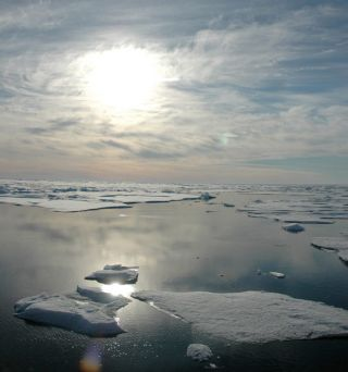 Arctic ice photographed in 2005.