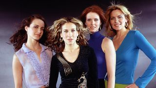 """Kristin Davis, Sarah Jessica Parker, Cynthia Nixon and Kim Cattrall star in the comedy series """"Sex And The City."""""""