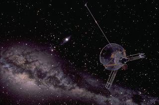Pioneer 10 leaving solar system, pioneers, dark matter