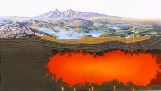 Yellowstone magma pocket