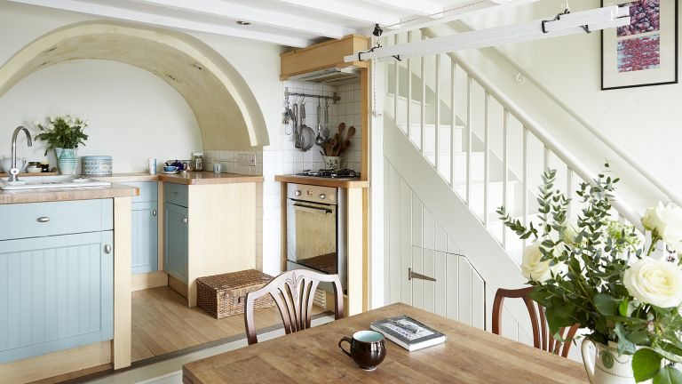 cottage staircase ideas stairs in a kitchen