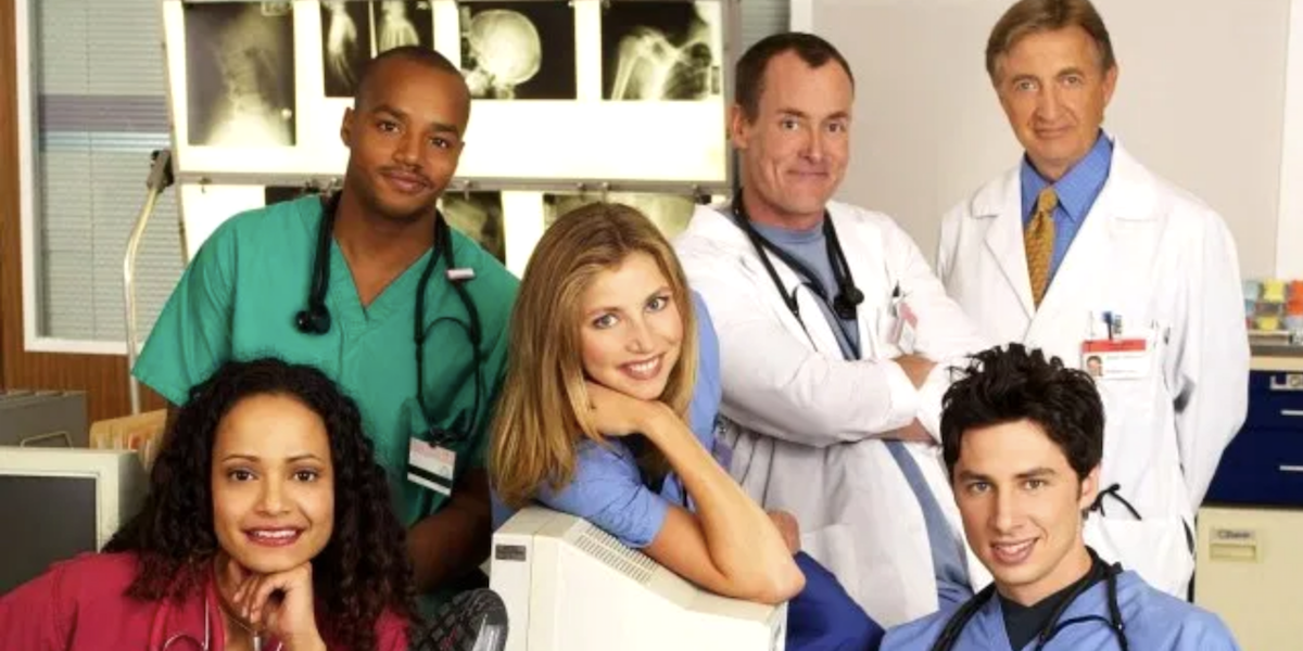 Some of the main cast of Scrubs.