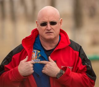 Scott Kelly and One-Year Mission Patch