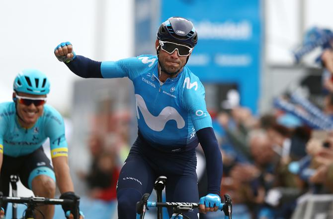 Alejandro Valverde (Movistar) wins breakaway sprint to take overall lead at Volta a la Camunitat Valenciana