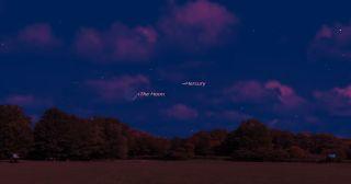 Mercury Near the Moon on May 30, 2014
