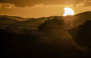 Partial Solar Eclipse Seen in Brisbane, Australia, April 29, 2014