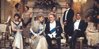 Downton Abbey movie cast, including royals George V and Queen Mary