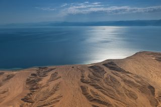 A view of the coastline of Neom, a region in northwest Saudi Arabia where the government is planning a new linear city.
