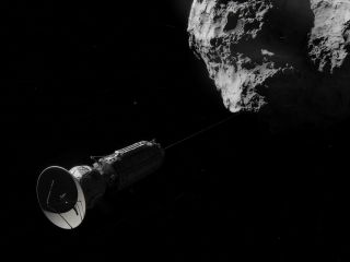 Artist Concept Showing Comet Hitchhike