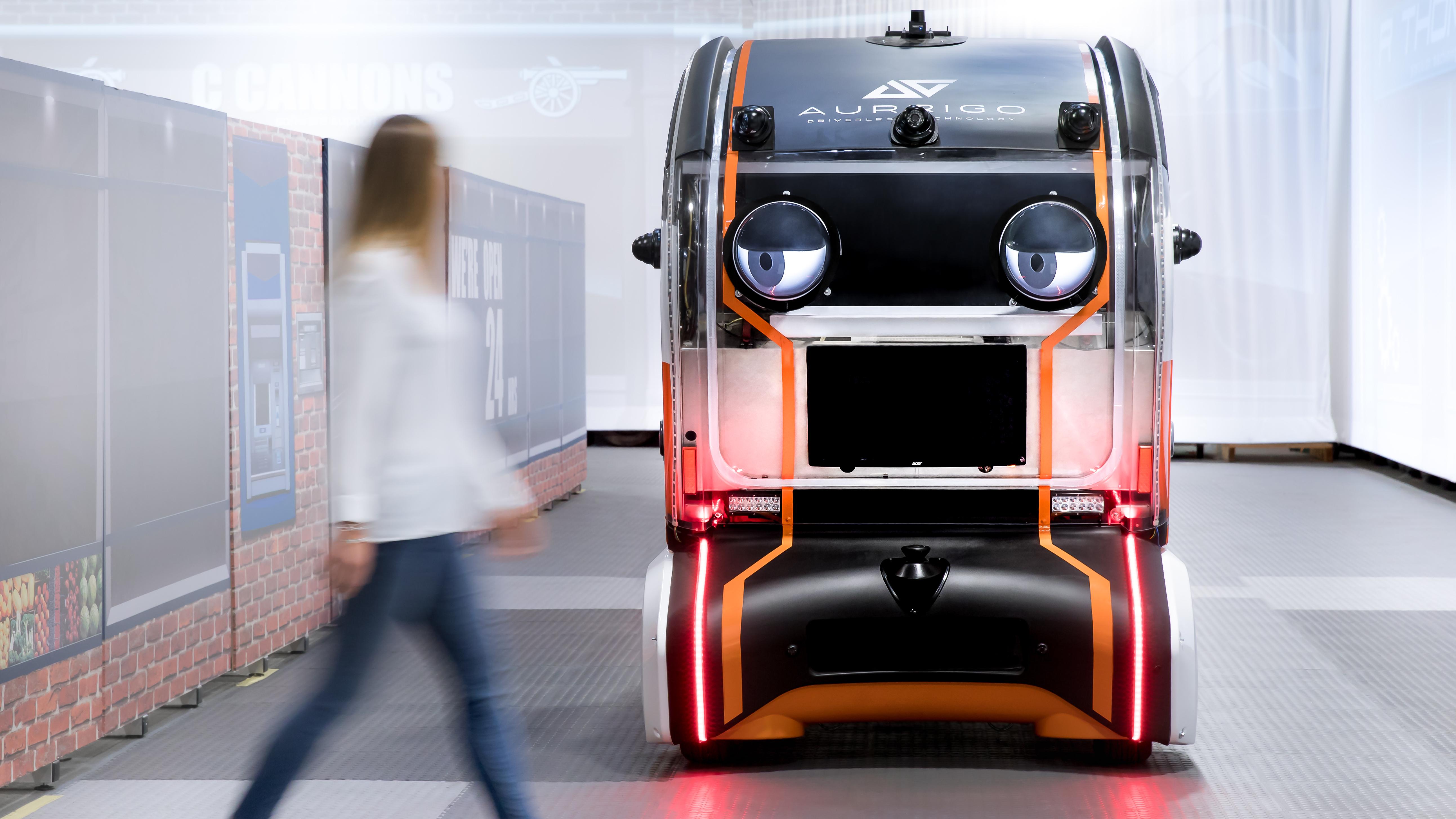 Jaguar Land Rover autonomous pod