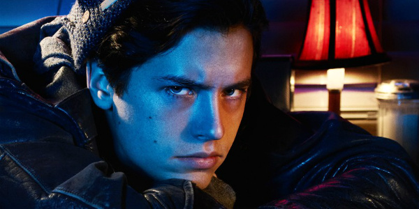 cole sprouse as jughead scowling on riverdale the cw
