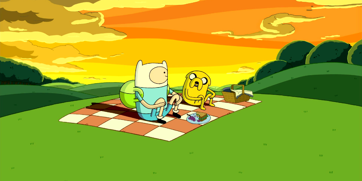 Finn and Jake on Adventure Time