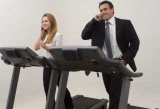 treadmill with office workers