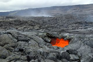 Scientists conduct research in Hawai'i Volcanoes National Park to practice for Mars landings.