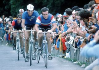 Bernard Hinault leads Italy's Gianbattista Baronchelli en route to the Frenchman's victory in the road race at the 1980 World Championships in Sallanches, France. Could Sallanches again be the venue for the 2020 Worlds?