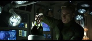 A screenshot from the theatrical trailer for Prometheus