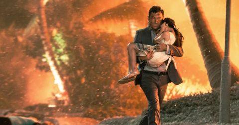 Jason Isaacs fleeing certain death in 'Skyfire.'