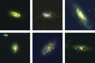 six recycling galaxies