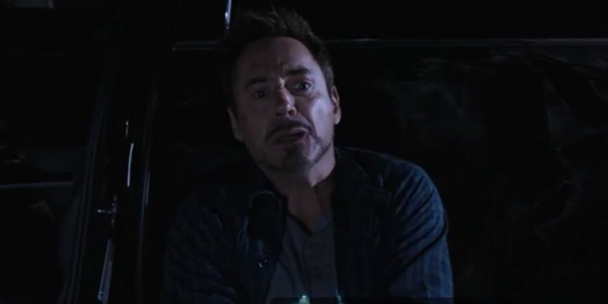 Robert Downey Jr. suffering from anxiety in Iron Man 3