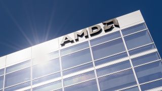 AMD logo building