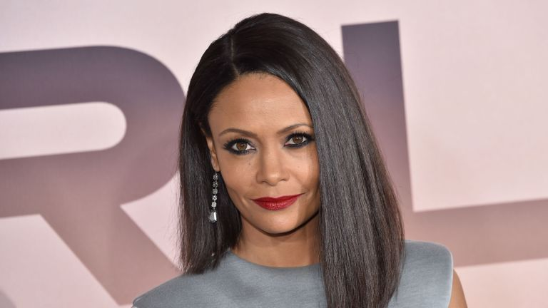 """British actress Thandie Newton arrives for the Los Angeles season three premiere of the HBO series """"Westworld"""" at the TCL Chinese theatre in Hollywood on March 5, 2020"""