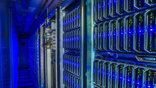 Computer racks in Data Center