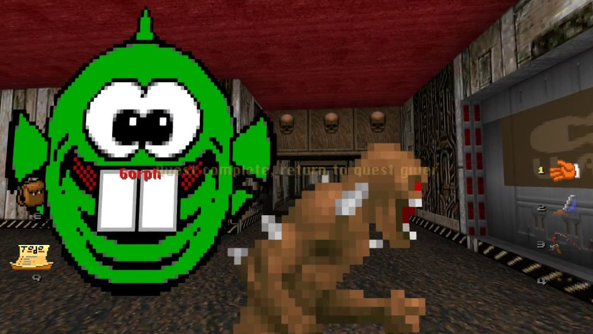 Help demons come to terms with their crappy jobs in the Doom mod 'Mr. Friendly'