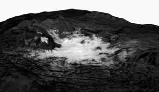 Ceres Bright Spot Seen by Dawn