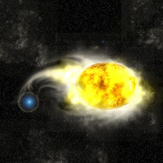 Progenitor system of Whirlpool supernova.