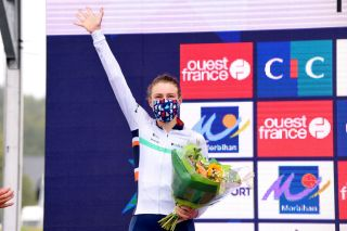Lizzy Banks (Equipe Paule Ka) finishes second at GP de Plouay 2020