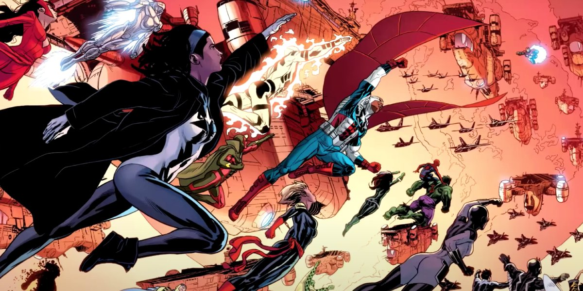 Monica Rambeau and other heroes in the Secret Wars