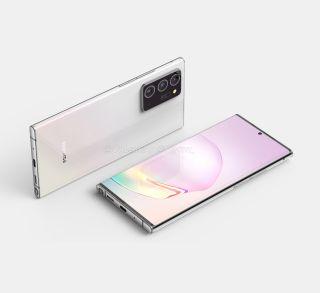 El nuevo Samsung Galaxy Note 20 Plus según renders de modelos presuntamente filtrados
