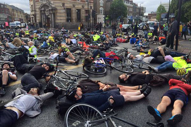 Cyclists Stage Die In Protest After Latest London Rider