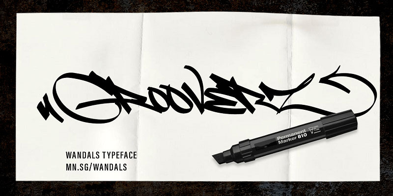Free graffiti fonts: Fat Wandals