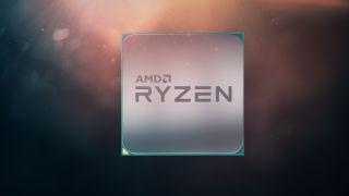 AMD Ryzen logo on a color field