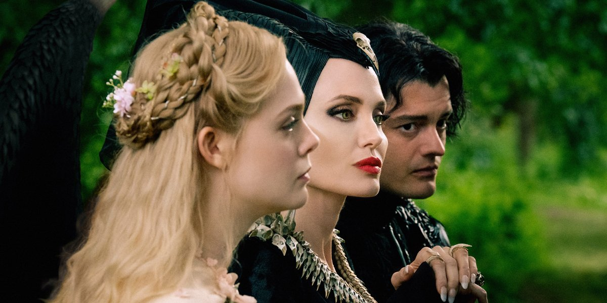 Elle Fanning Sam Riley Angelina Jolie in Maleficent Mistress of Evil