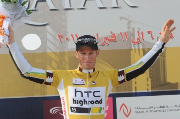 Mark Renshaw leads, Tour of Qatar 2011, stage four